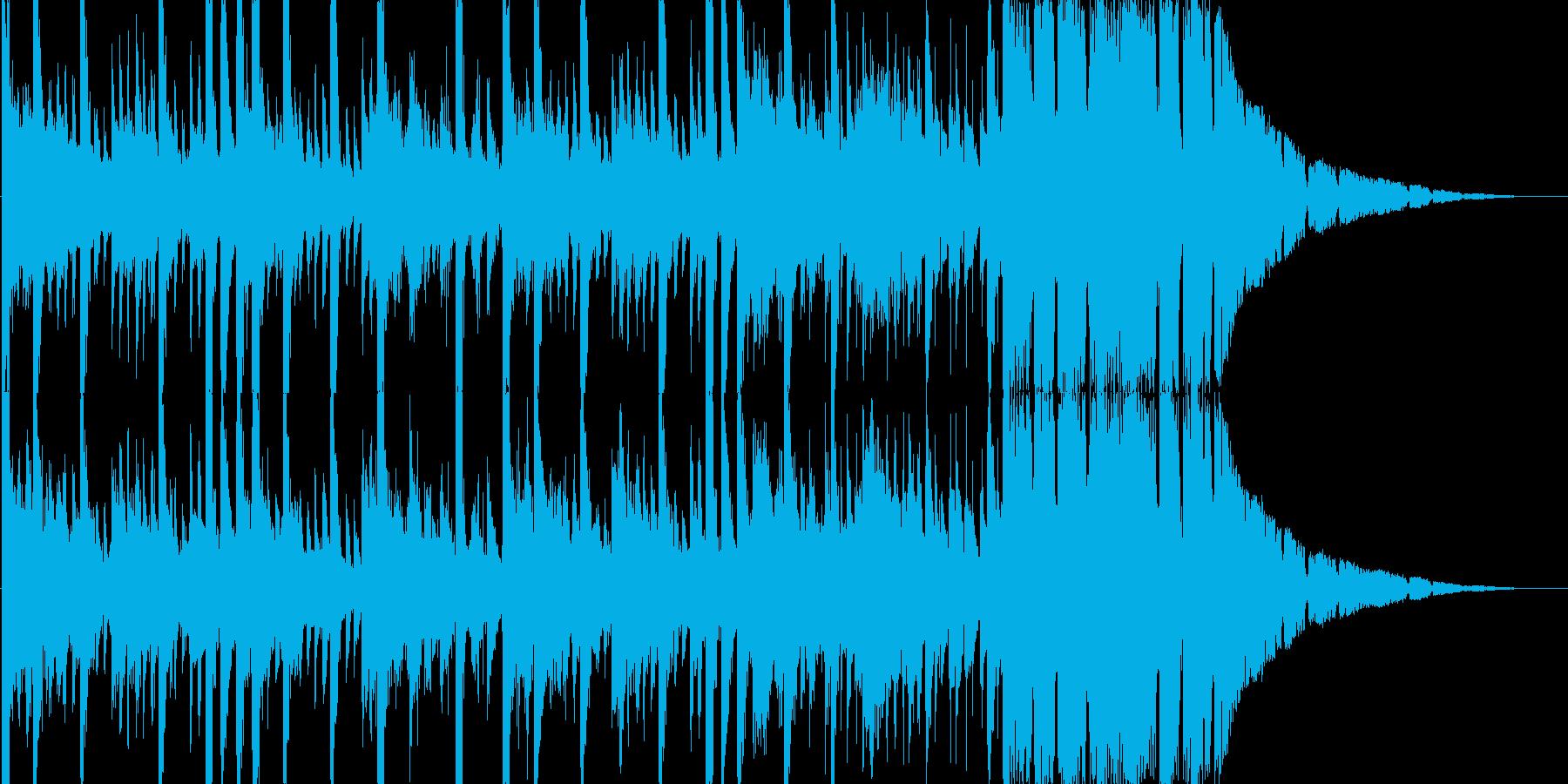 攻撃的なパワフルエレクトロニカBGMの再生済みの波形