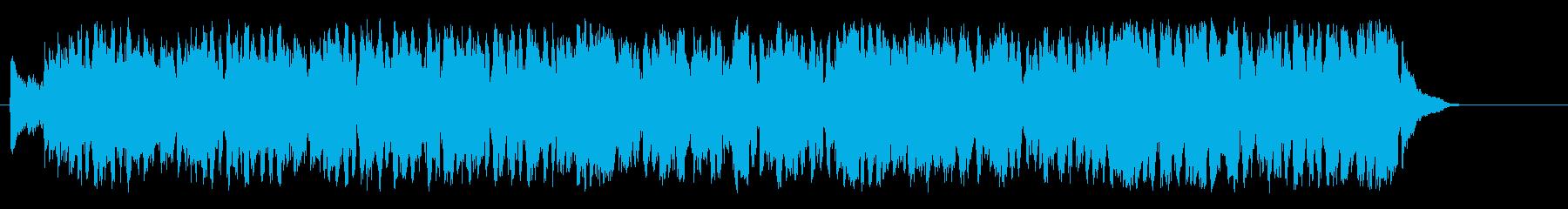 陽気なパレードのデキシージャズ風ポップスの再生済みの波形