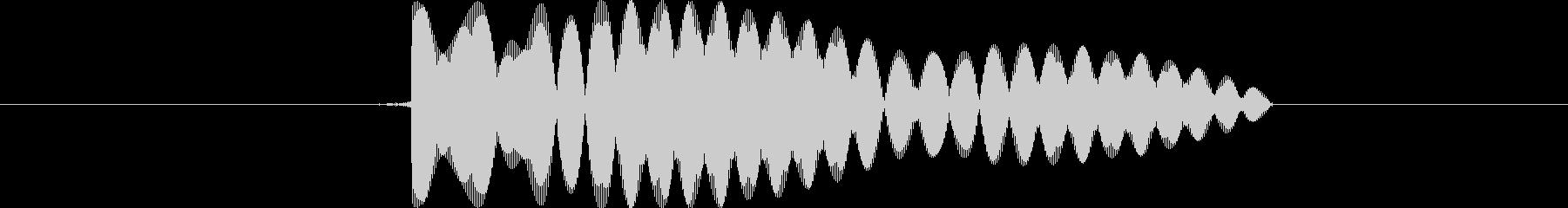 アプリ等で選択や決定をした時の音の未再生の波形