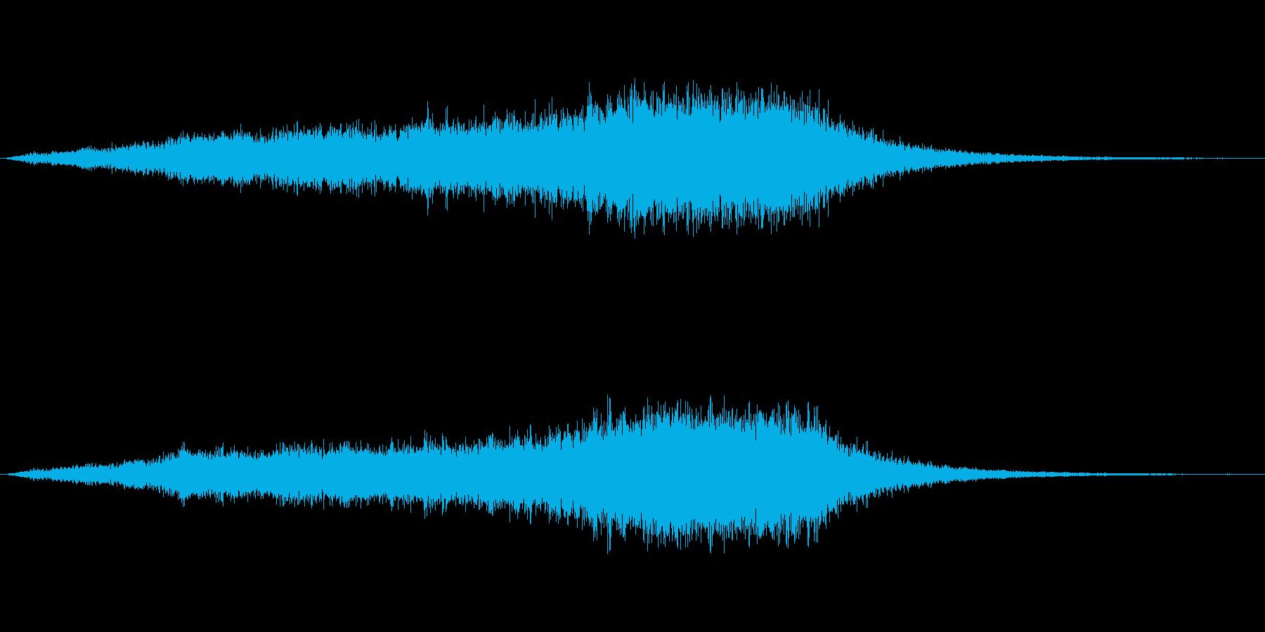空間移動の衝撃の再生済みの波形