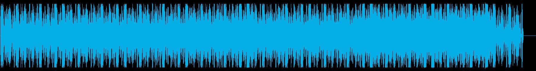 テクノ風トラックのBGMの再生済みの波形
