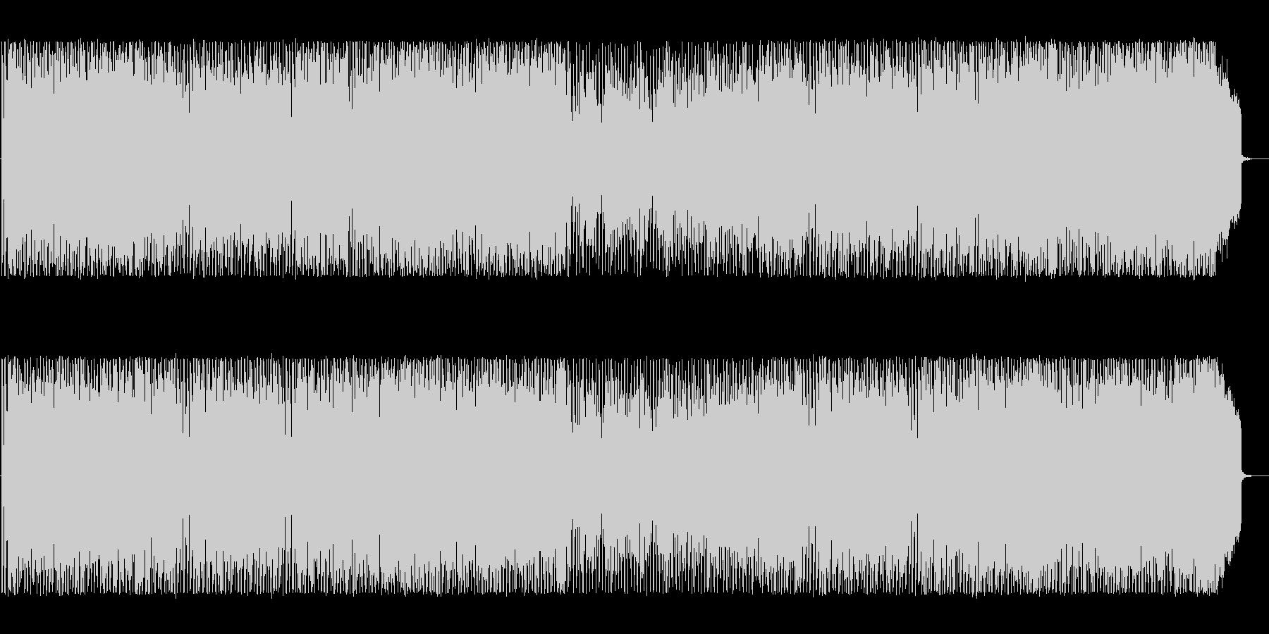 エキサイティングな雰囲気のテクノBGMの未再生の波形
