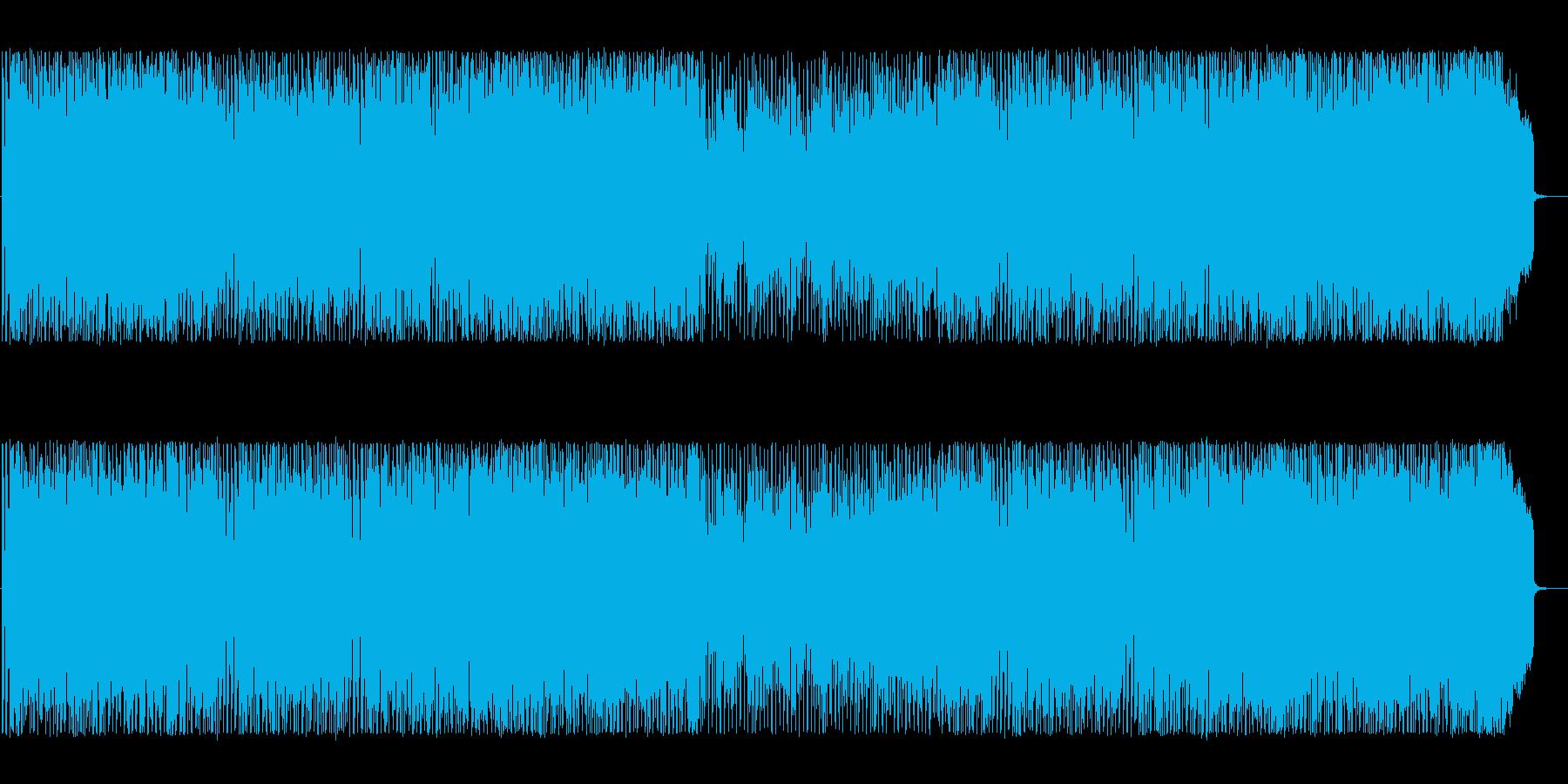 エキサイティングな雰囲気のテクノBGMの再生済みの波形