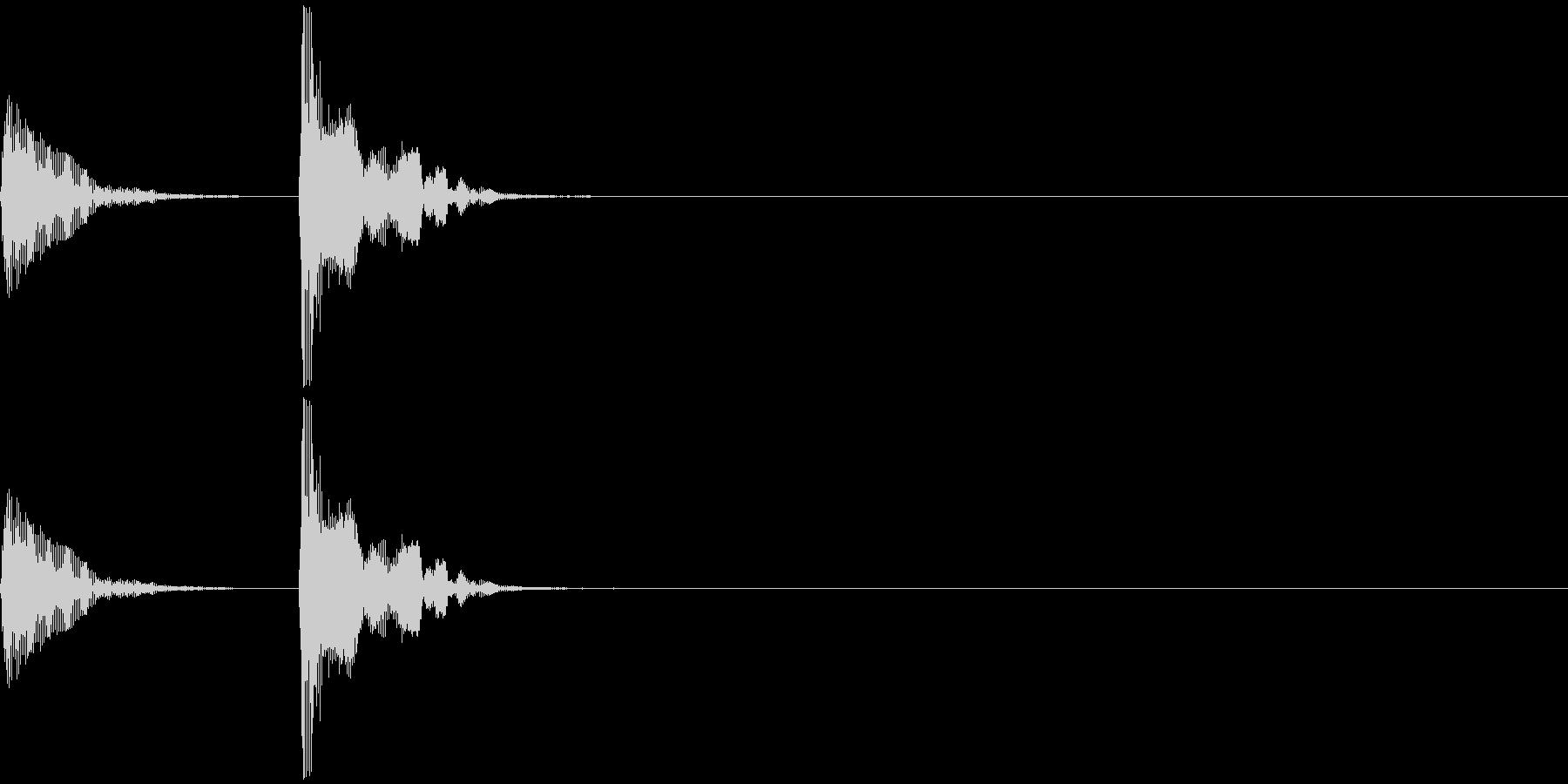 和楽器・鼓(つづみ)のポン_ポン1の未再生の波形