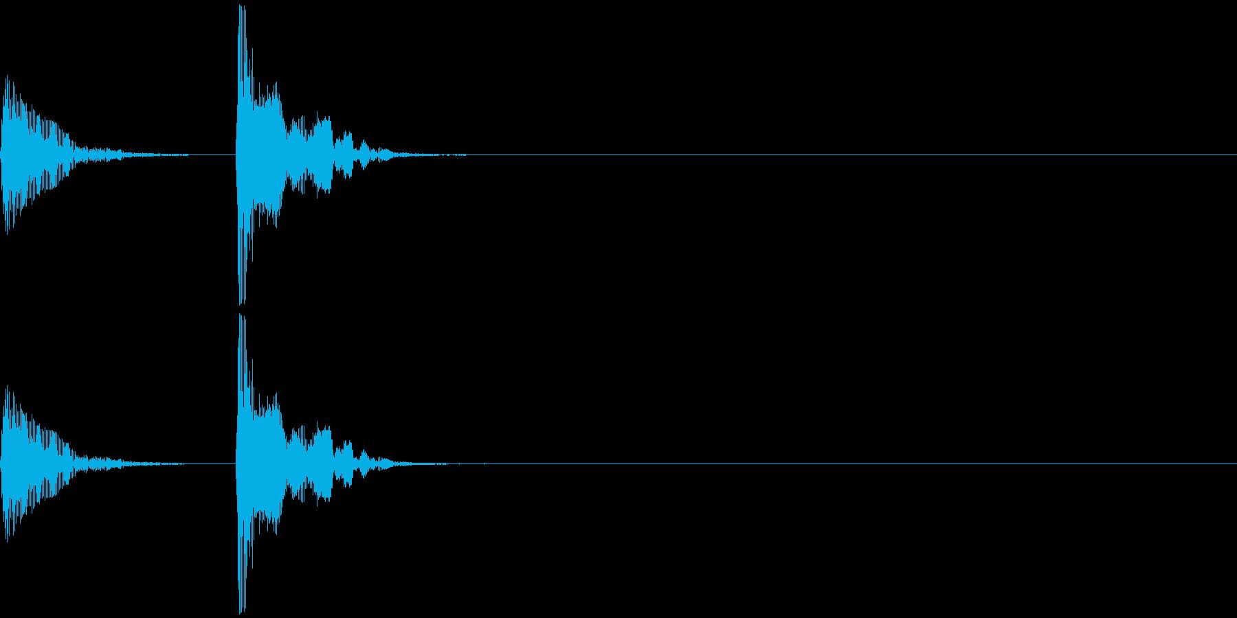 和楽器・鼓(つづみ)のポン_ポン1の再生済みの波形