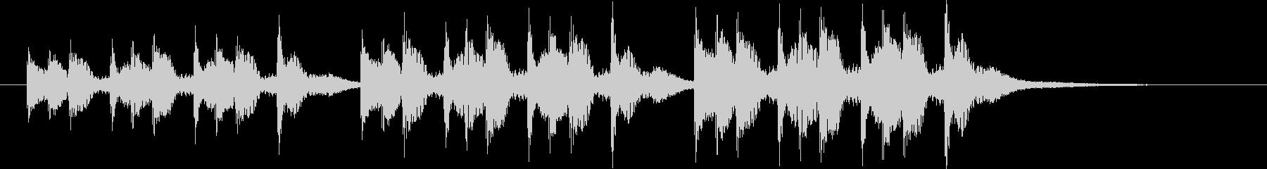 三本締め(一本締め×3)の未再生の波形