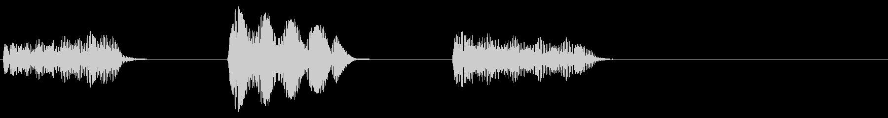 ピピピッ(目覚まし時計のアラーム音)の未再生の波形