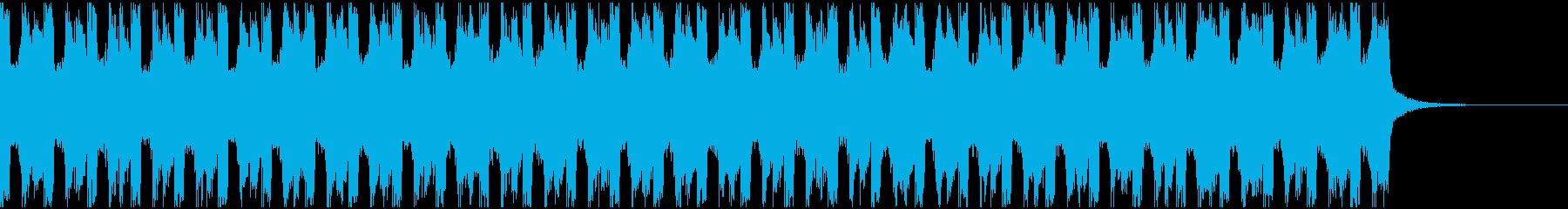 コマーシャルのBGMに!シンプルなEDMの再生済みの波形