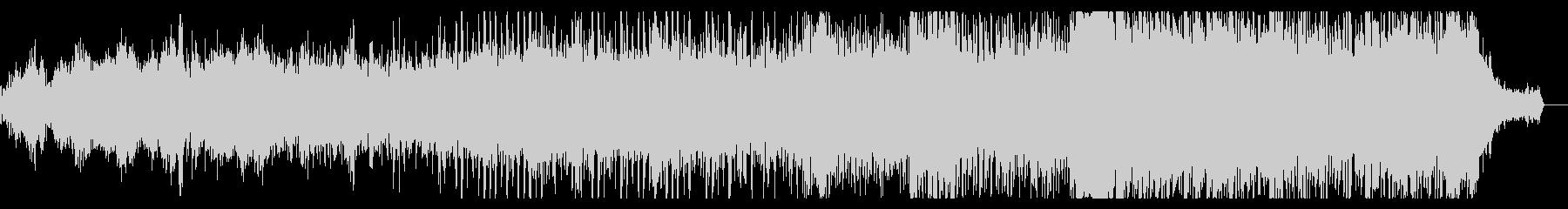 神秘的で音程の希薄なアンビエントIDMの未再生の波形