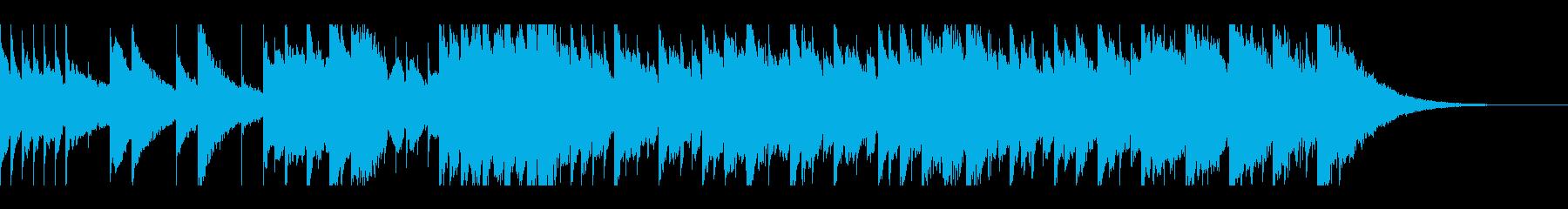 せつない雰囲気のオルゴール曲の再生済みの波形