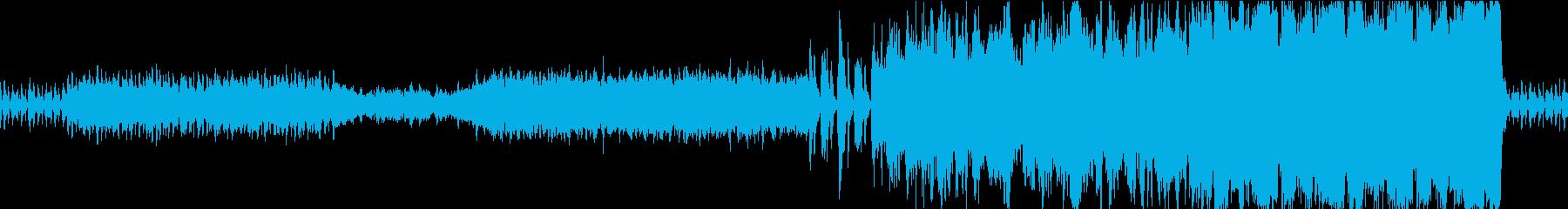 オーケストラ マイナー調の行進曲風ループの再生済みの波形