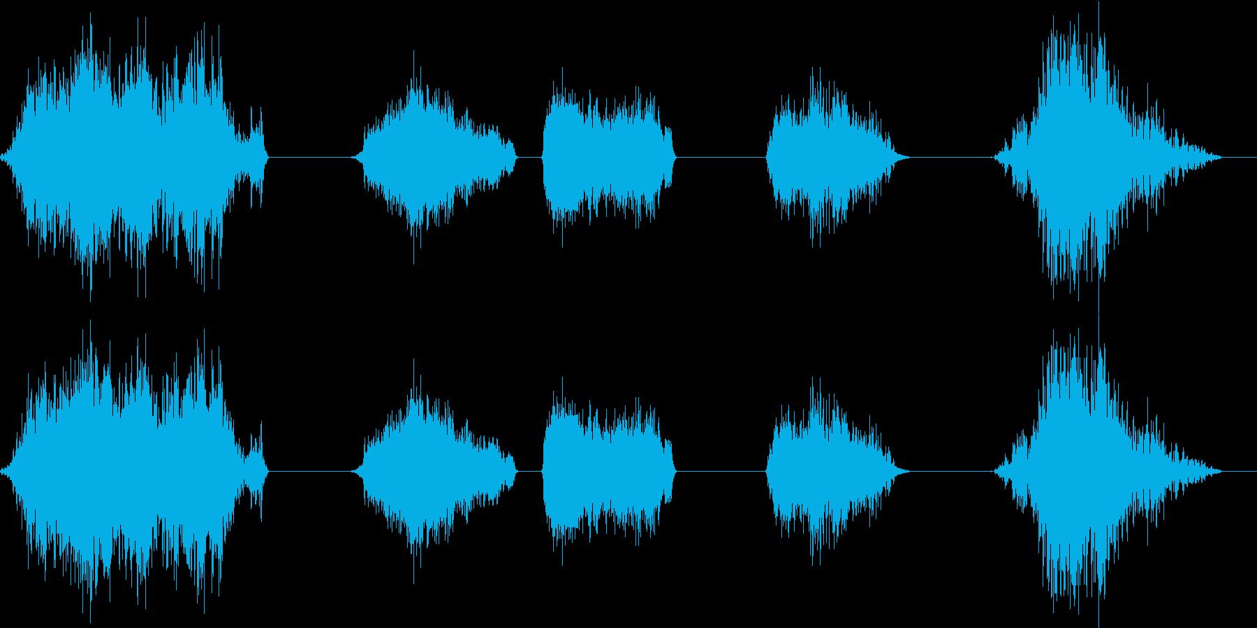 地震拡張地すべり効果、たくさんの岩...の再生済みの波形