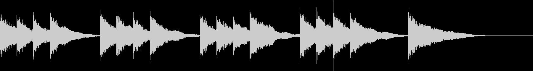 シンプルなベルの開演ベルの未再生の波形