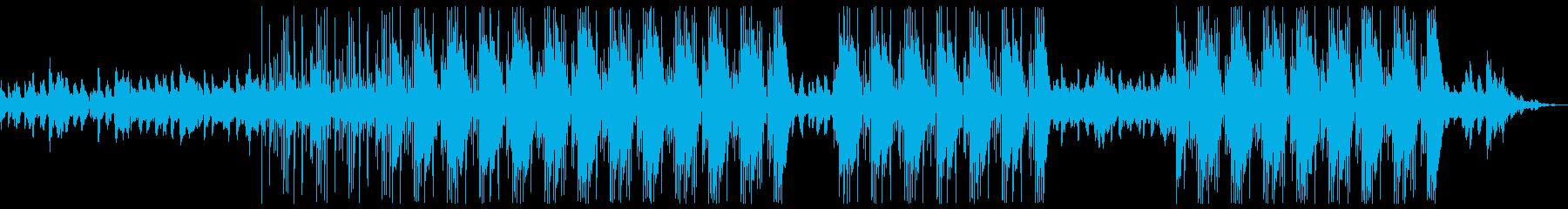 ダークで悲しい洋楽っぽいトラップビートの再生済みの波形