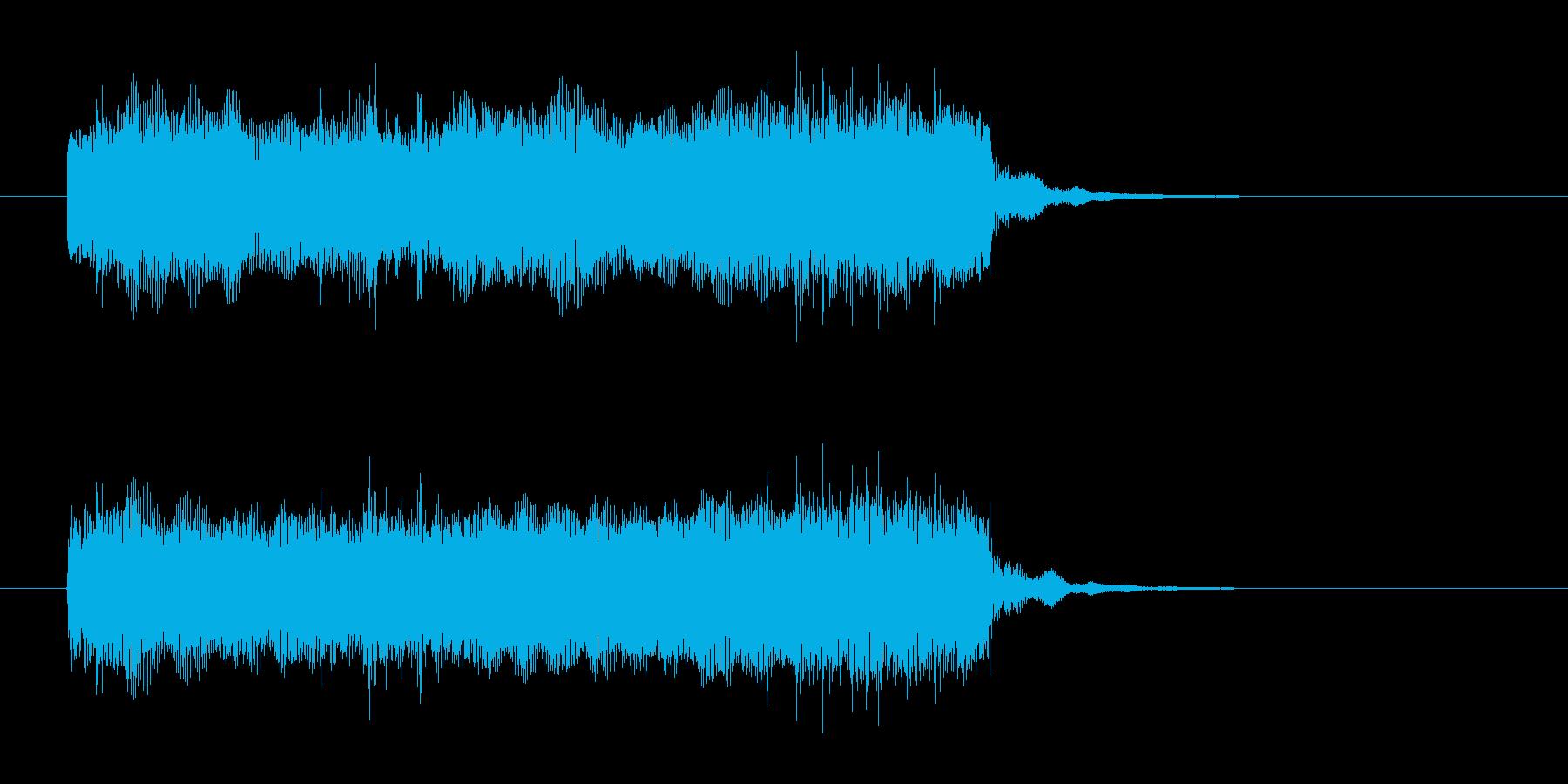 ギターとドラムの奏でる定番曲の再生済みの波形