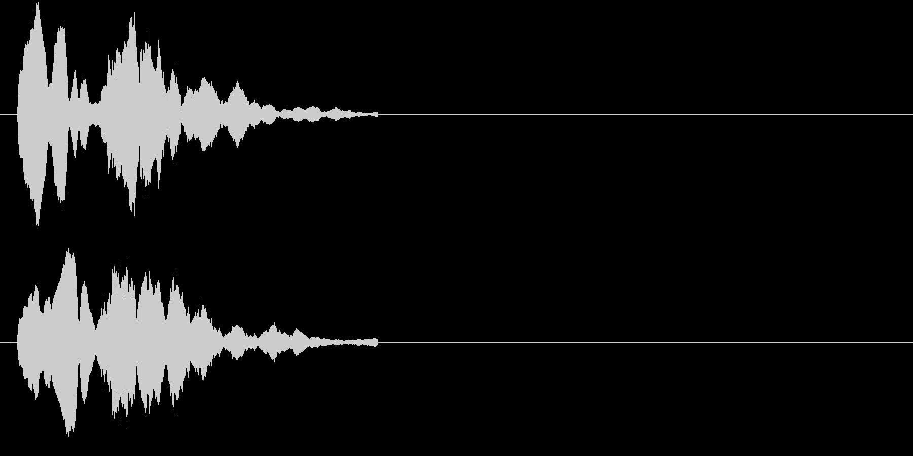 クイズで正解(ピンポン)の未再生の波形