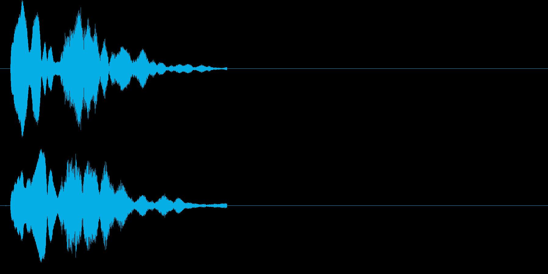 クイズで正解(ピンポン)の再生済みの波形