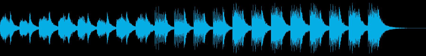 和風の柔らかな雰囲気の曲 シンセ無しの再生済みの波形