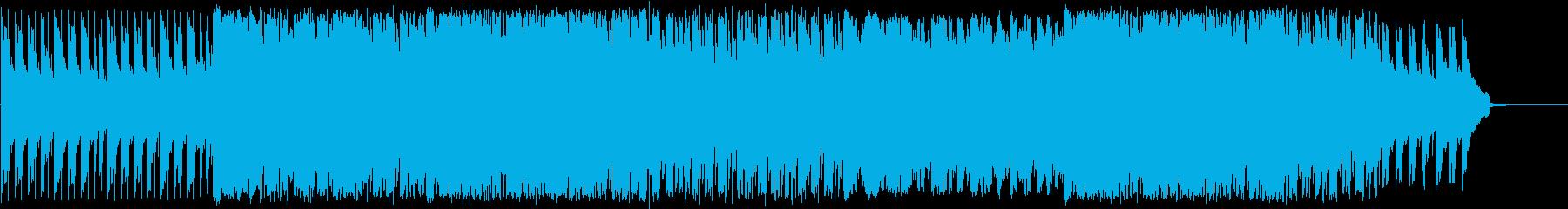 ピアノとバイオリンの明るい4つ打ち の再生済みの波形