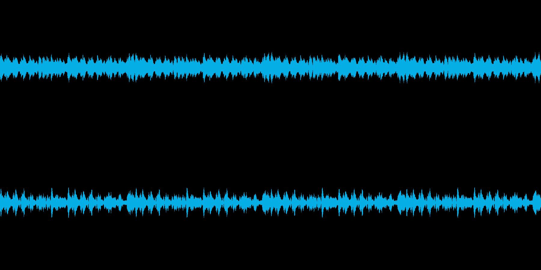 睡眠に合う雰囲気のBGMの再生済みの波形