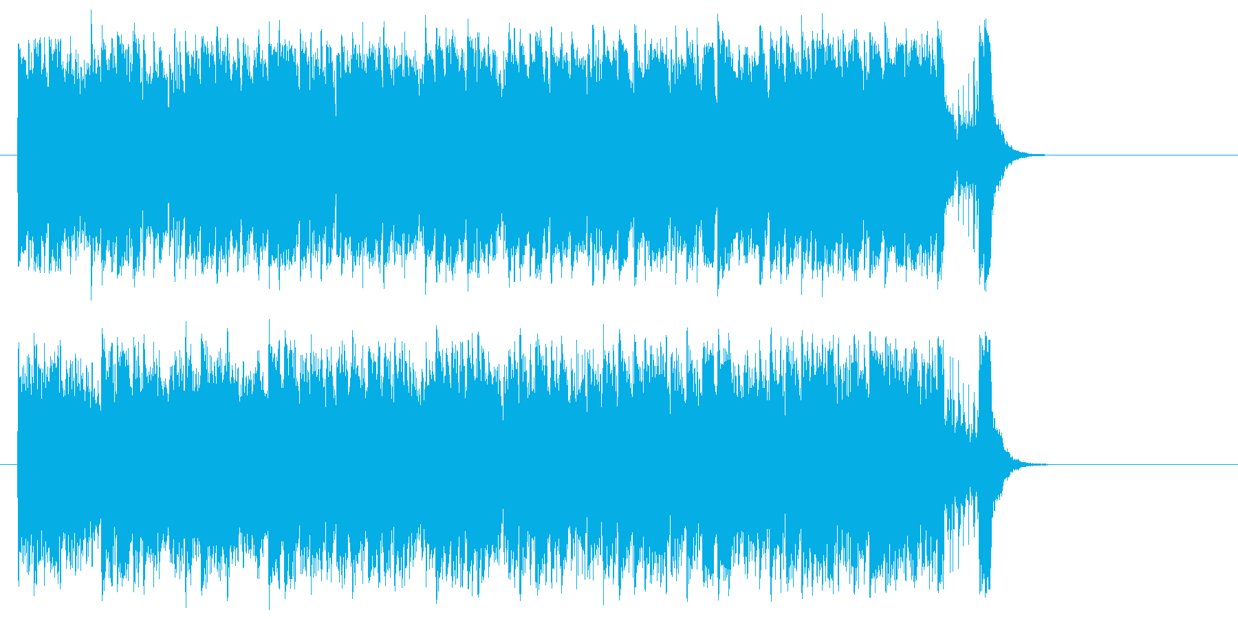 前進する力強いポップ(サビ~エンド)の再生済みの波形