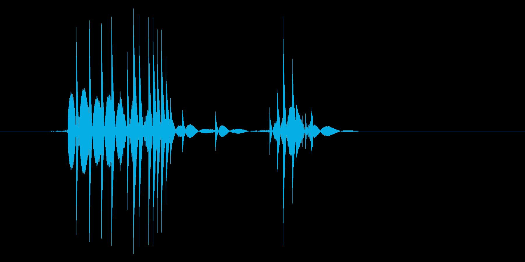 ゲーム(ファミコン風)爆発音_016の再生済みの波形