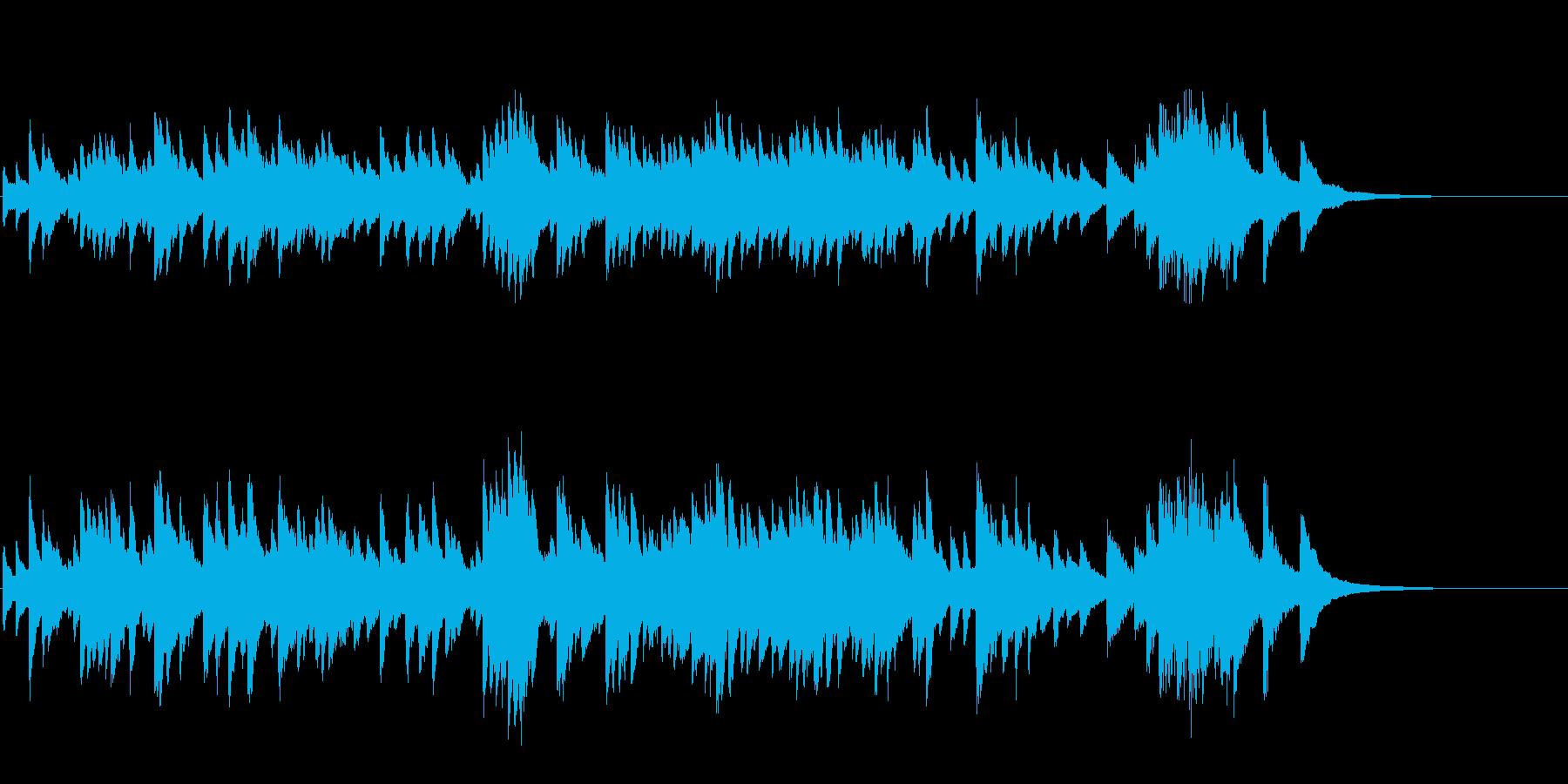 ノスタルジックな趣の寂しげなピアノソロの再生済みの波形