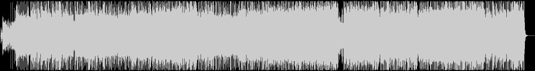 マイナー調のハードロックBGMの未再生の波形