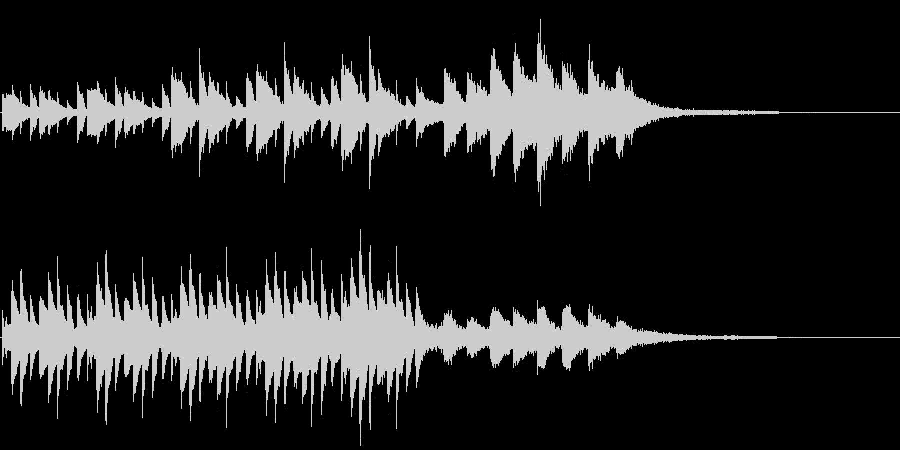 雨をイメージしたピアノの短いフレーズの未再生の波形