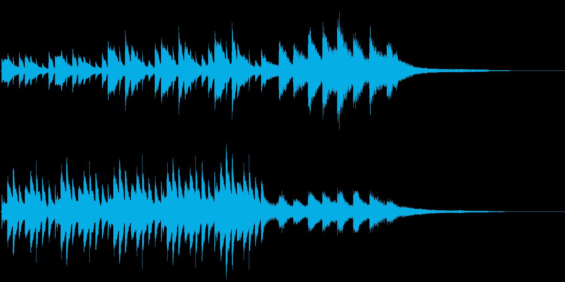 雨をイメージしたピアノの短いフレーズの再生済みの波形