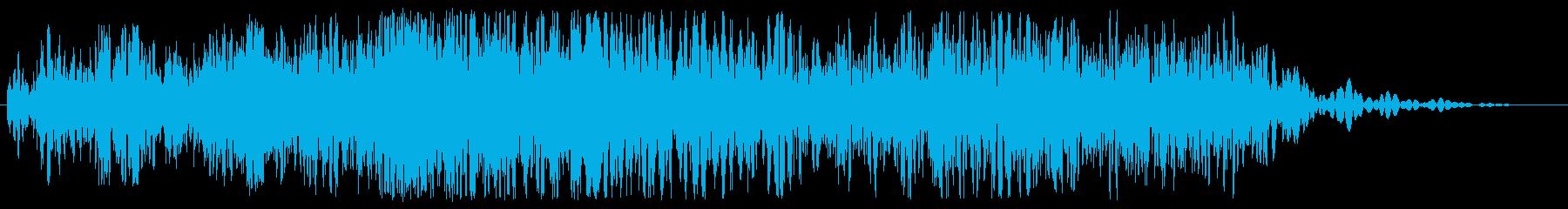 重い摩擦スライドの再生済みの波形