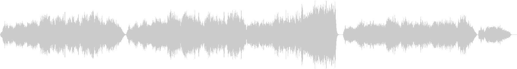 優しく、美しい、ストリングス アダージョの未再生の波形