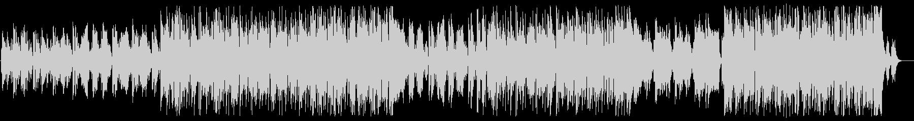 ミドルテンポのメランコリックなポップスの未再生の波形
