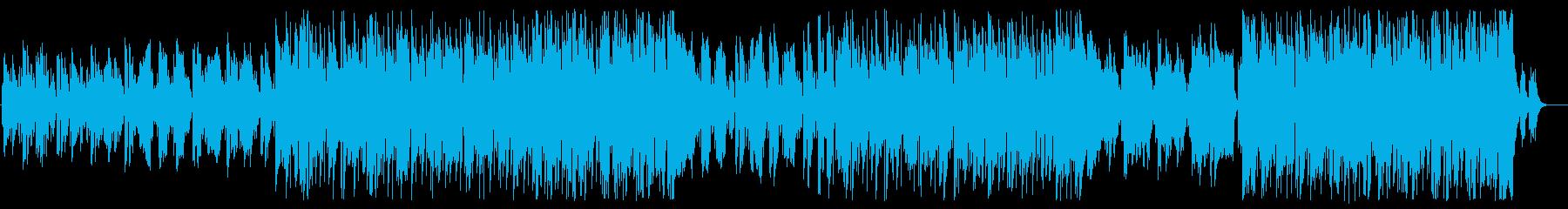 ミドルテンポのメランコリックなポップスの再生済みの波形