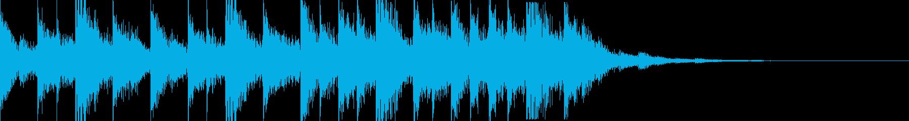 シンスウェーブなジングルの再生済みの波形