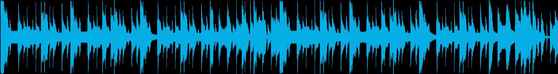 【ループ・Bメロ】和風ヒップホップBGMの再生済みの波形