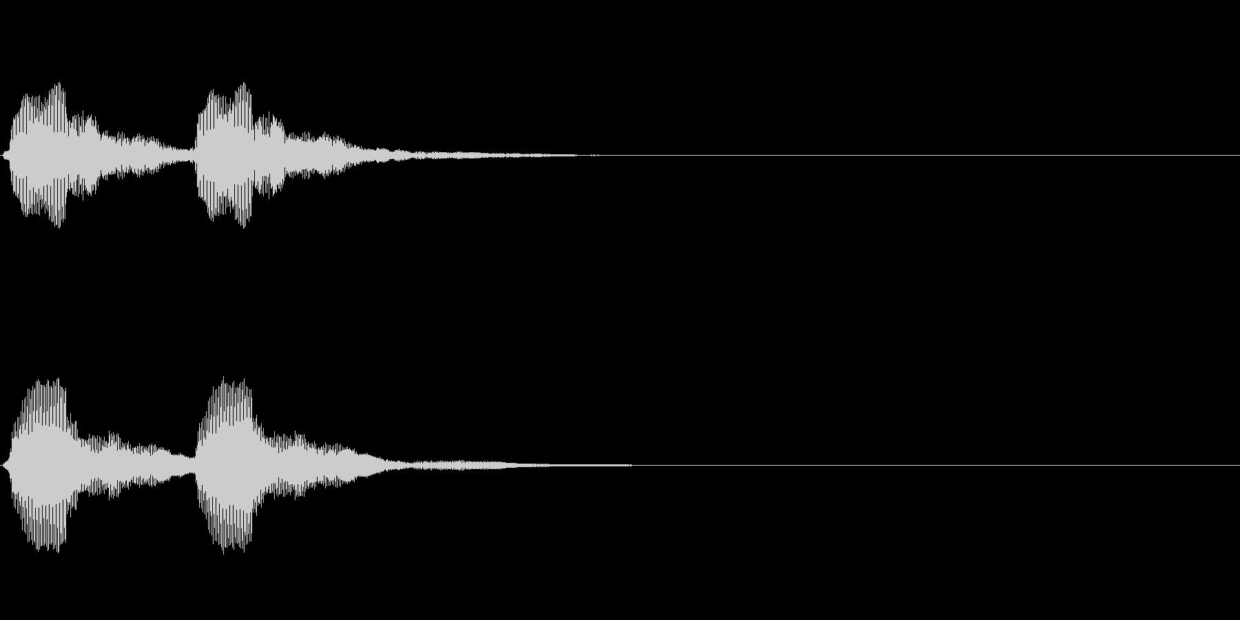 軽トラのクラクション2回の未再生の波形