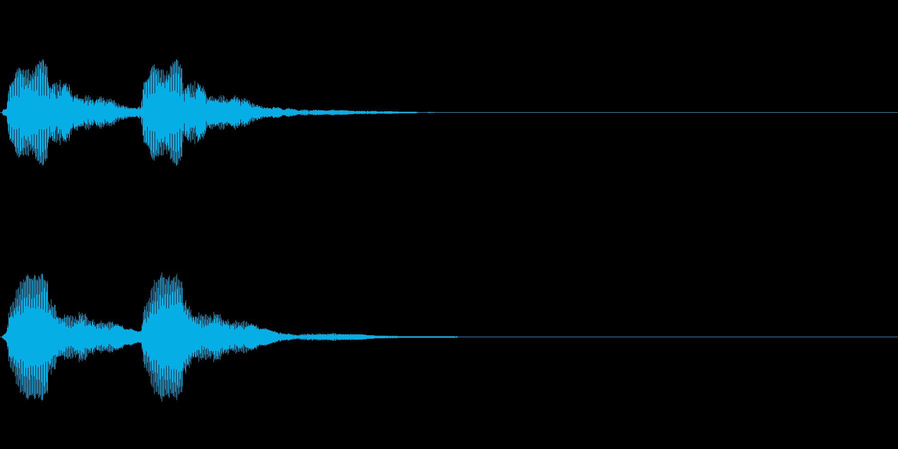 軽トラのクラクション2回の再生済みの波形