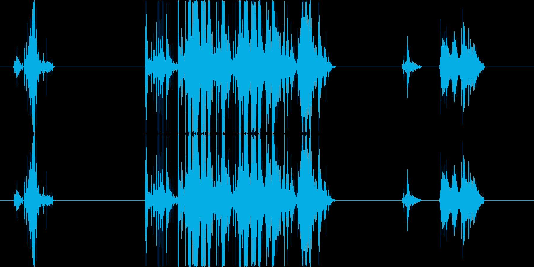 ガンさばきの音の再生済みの波形