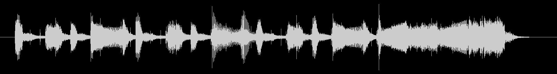 サックスによるジャジーなジングル 10秒の未再生の波形