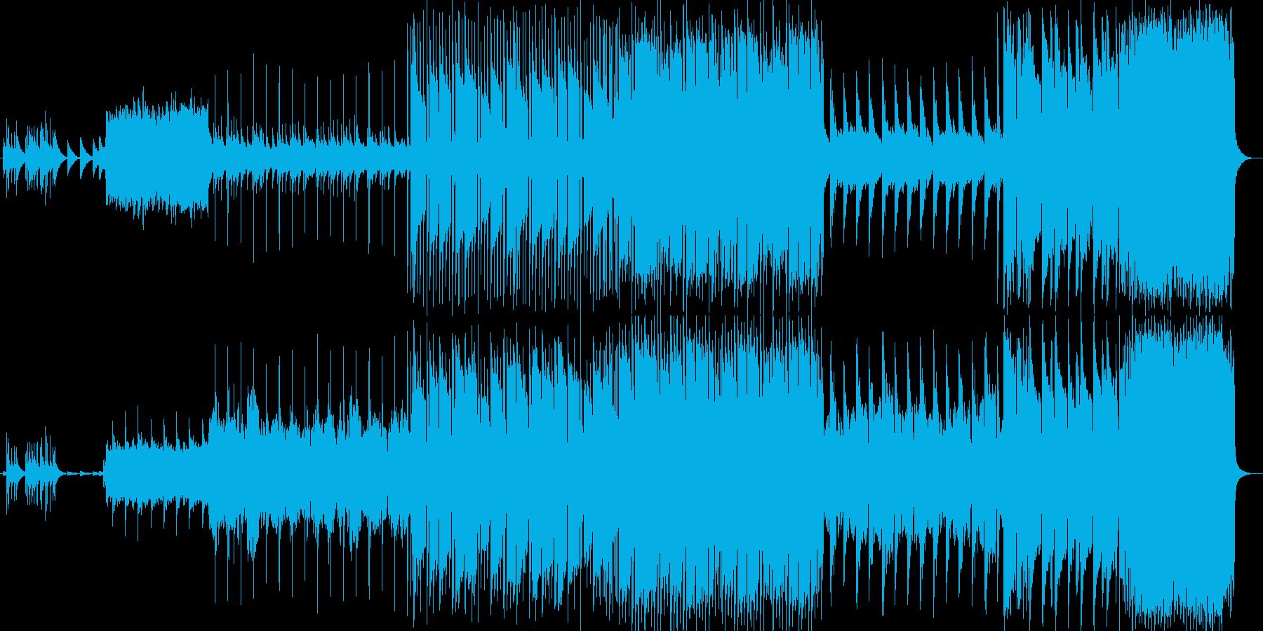綺麗なオルゴールのメロディーのバラードの再生済みの波形