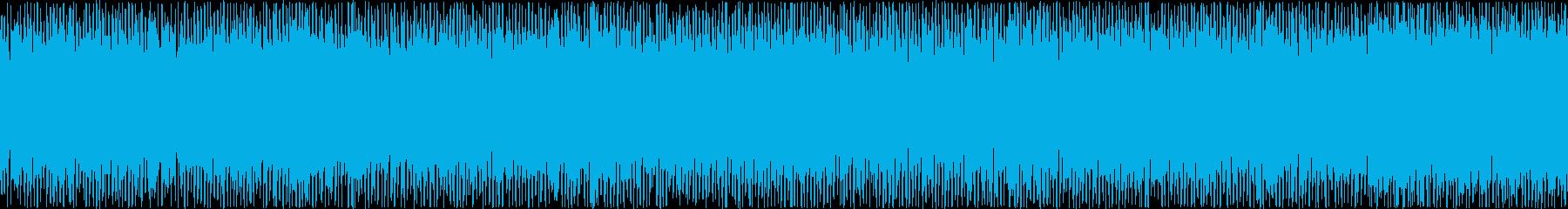 ザァー(FMラジオのノイズA)ループ処理の再生済みの波形