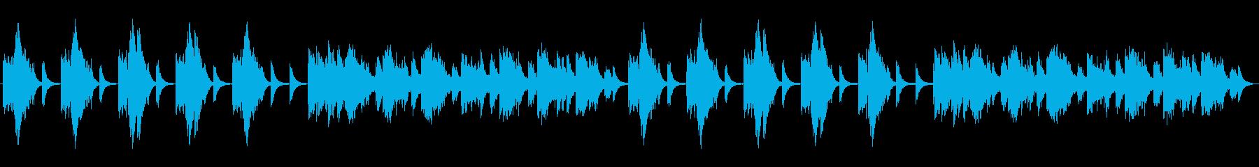 静かでオリエンタルな音色の再生済みの波形