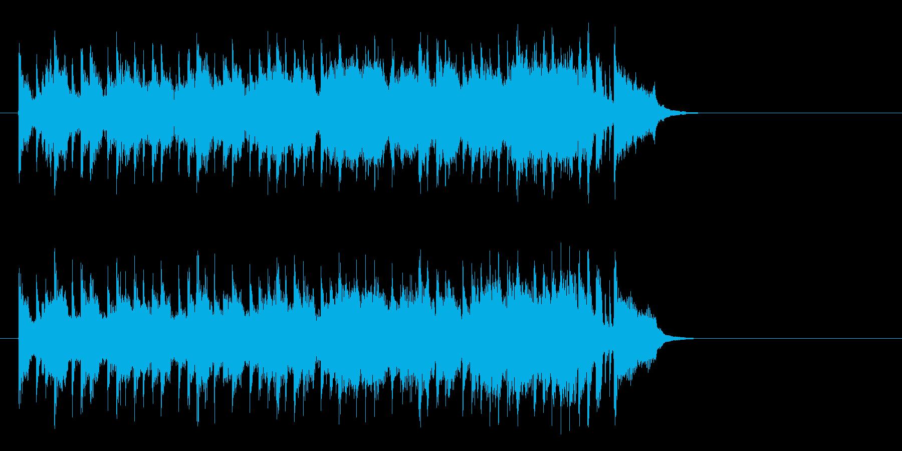 昼下がりの洋風ポップス(サビ)の再生済みの波形