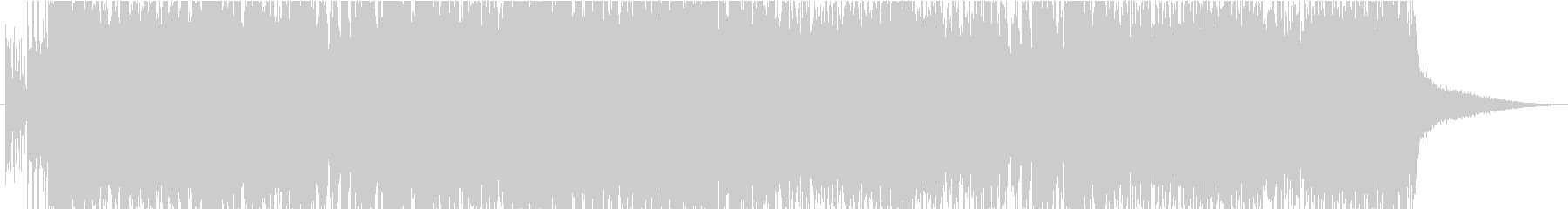 音ゲーライクなピアノHARDCORE②の未再生の波形