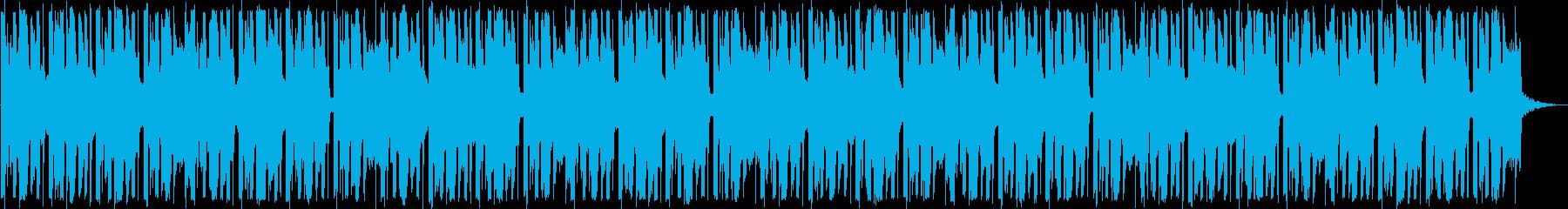 トロピカルなEDMの再生済みの波形