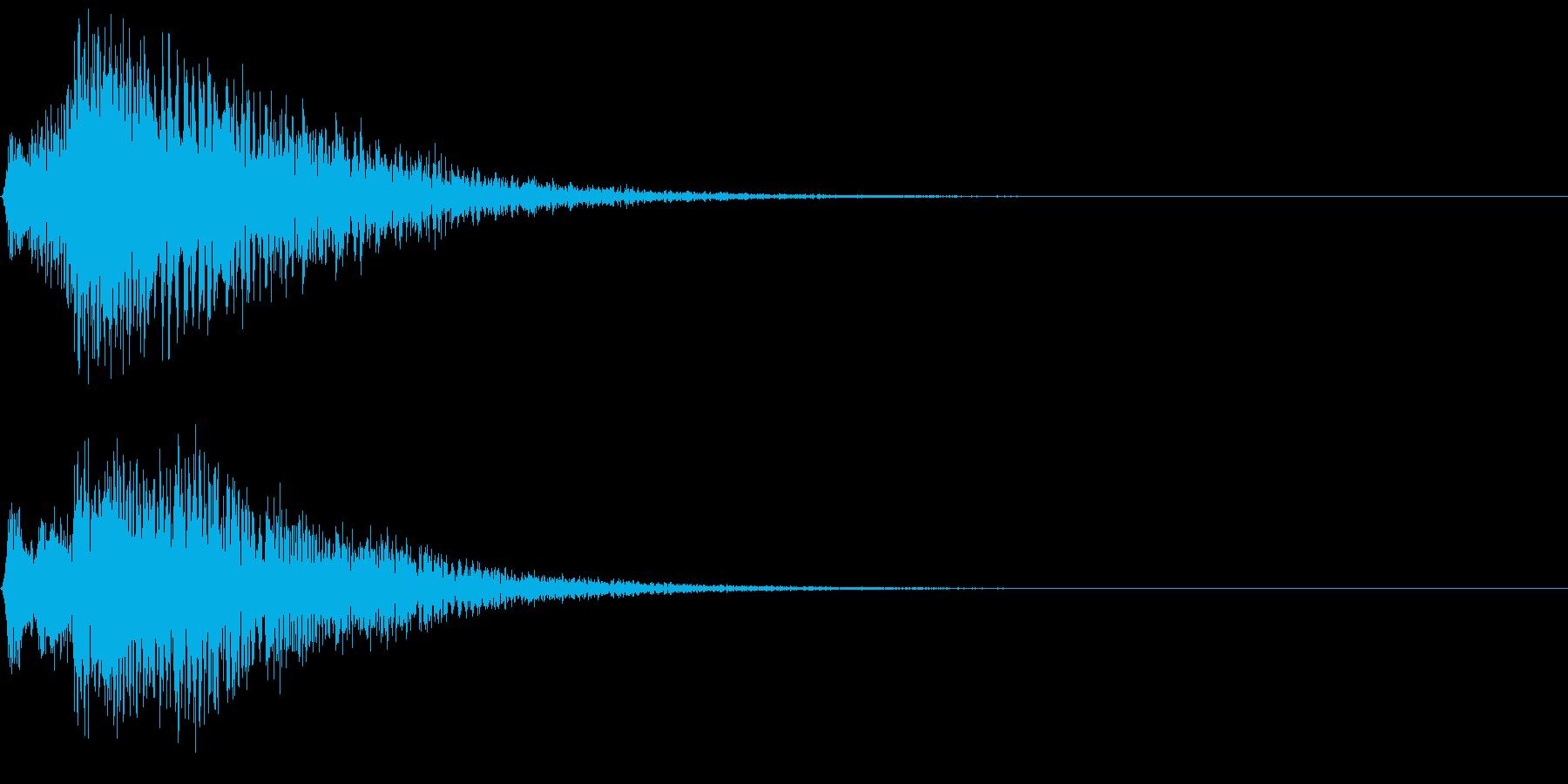 ボタン押下や決定音_キュルンッ!の再生済みの波形
