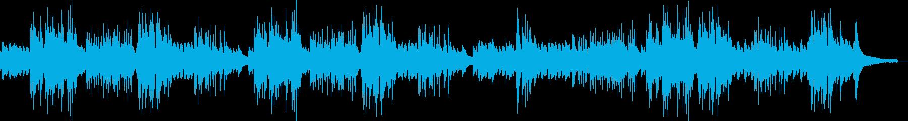 清涼感のあるソロピアノの再生済みの波形