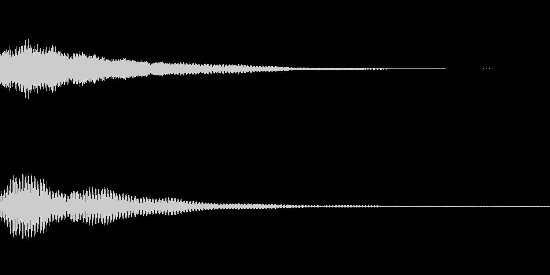 ピーンの未再生の波形