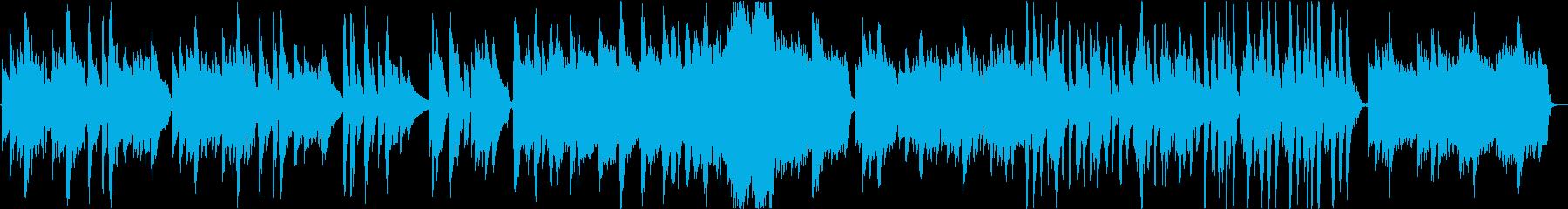 アコギの悲しい旋律のバラードの再生済みの波形